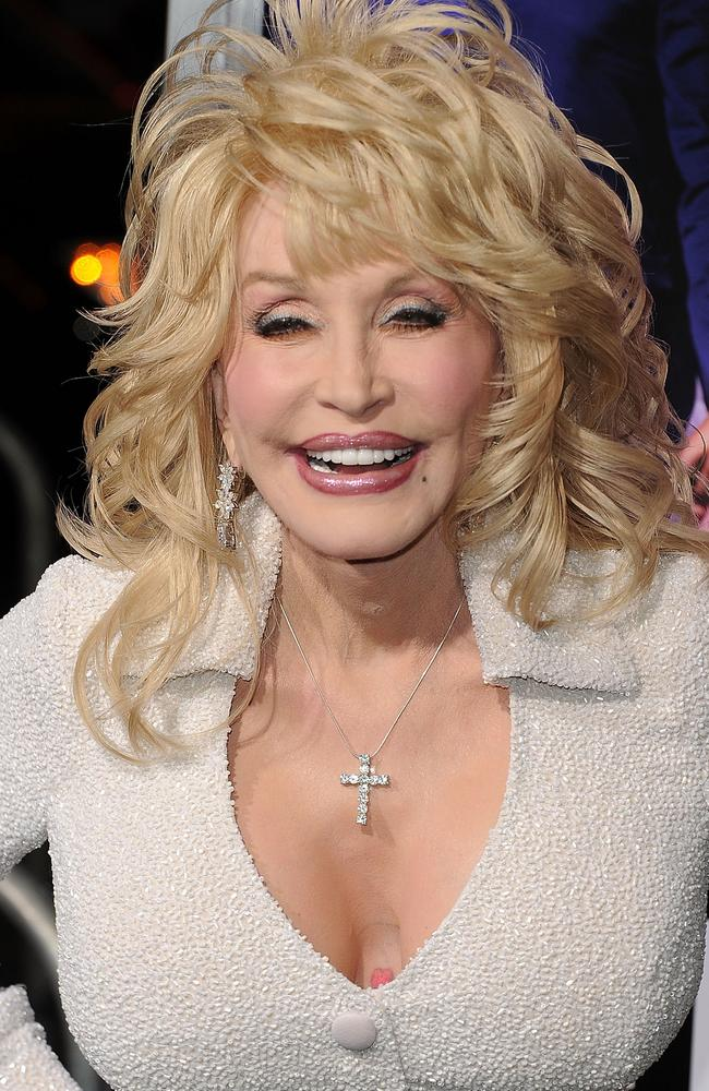 Dolly Parton arrives at the premiere of Joyful Noise. Picture: Jason Merritt/Getty Images