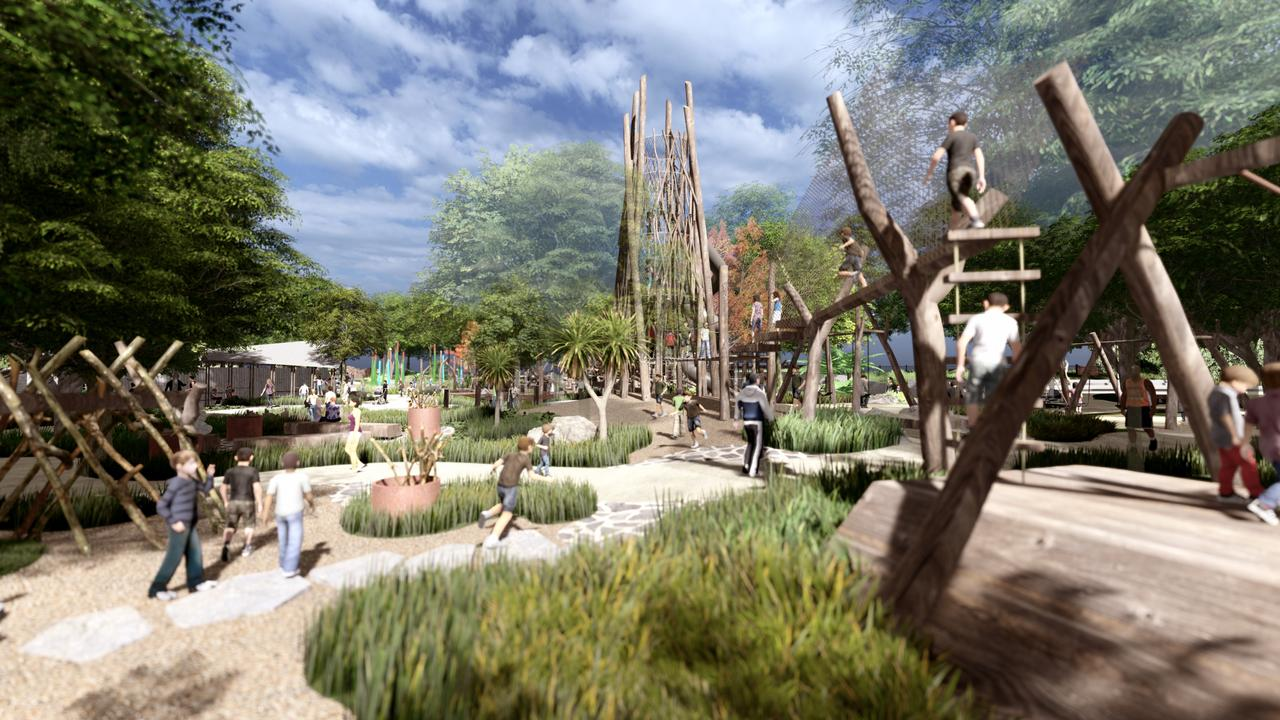 Digital impression of the proposed new nature-based hinterland playground at Cooroy.