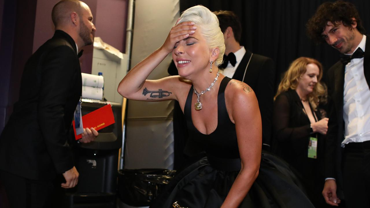 Lady Gaga backstage during the 91st Annual Academy Awards. Picture: Matt Sayles /AFP/A.M.P.A.S/Matt Sayles