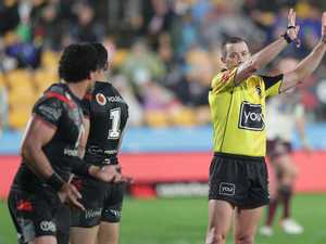 'Just kick us out of the comp': Warriors star's ref spray