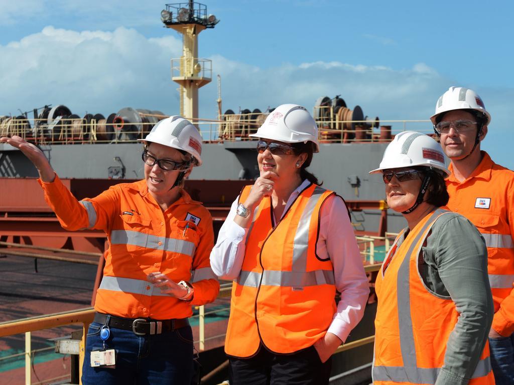 Premier Annastacia Palaszczuk with Member for Mackay Julieanne Gilbert Photo - Caitlin Charles