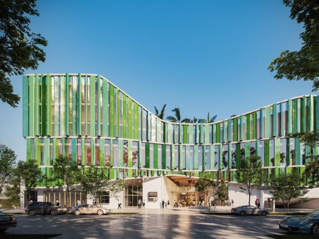 Coffs Harbour City Council's schematic design for the $76.5 million Civic and Cultural Centre.