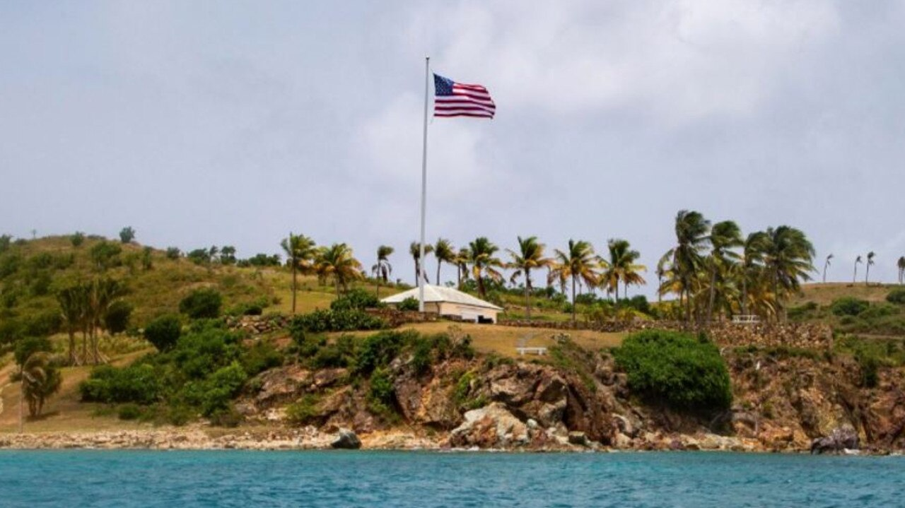 "Little St. James Island, in the US Virgin Islands, was Jeffrey Epstein's ""Island of Sin"". Picture: AP"