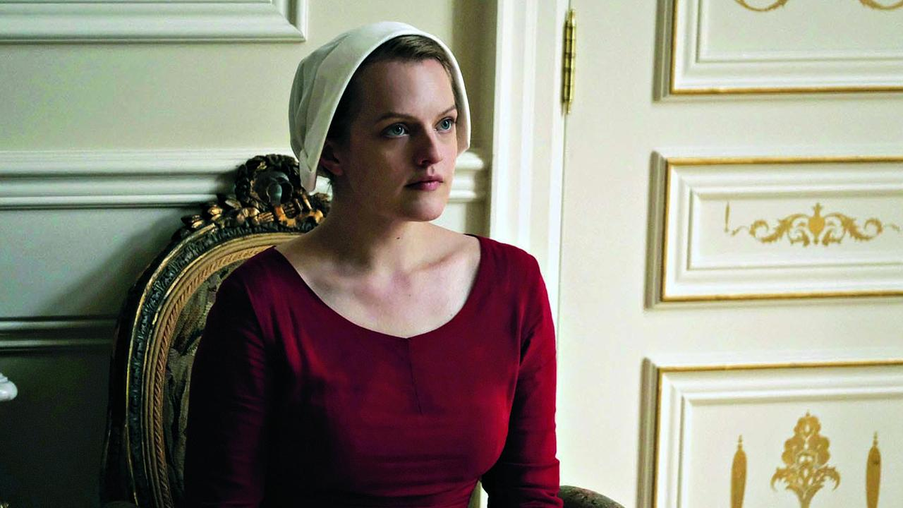 Elisabeth Moss as Offred in The Handmaid's Tale. Picture: George Kraychyk/Hulu