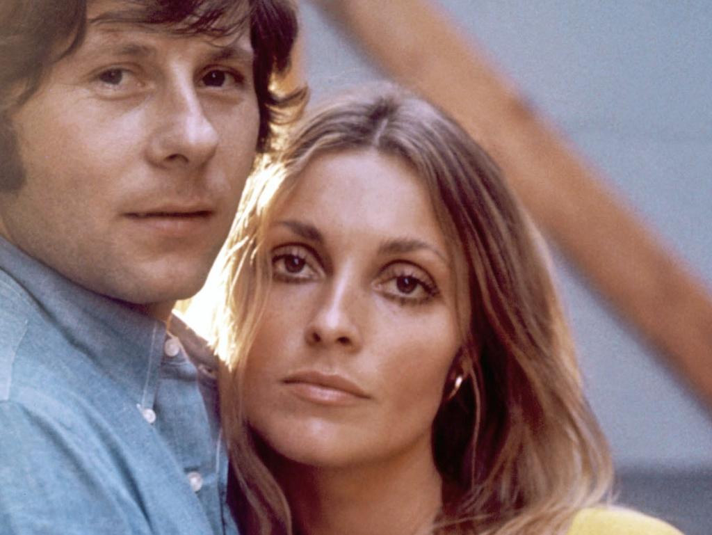 Actor Sharon tate with her husband Roman Polanski.