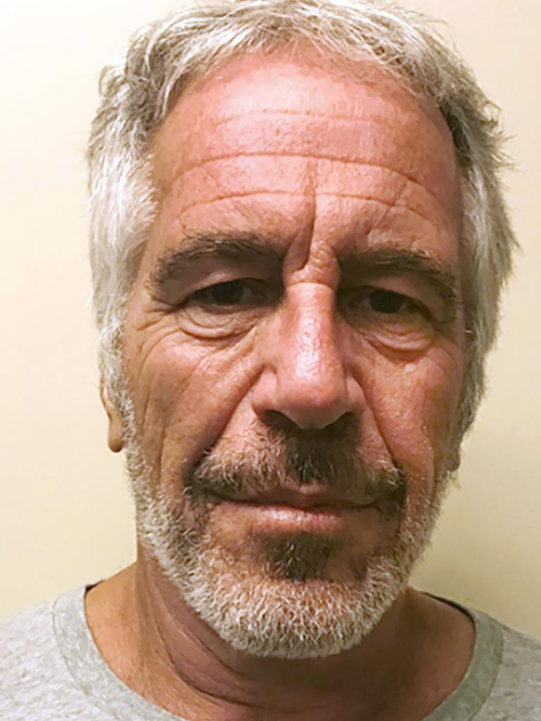 Jeffrey Epstein's photo in the New York State Sex Offender Registry. Picture: AP