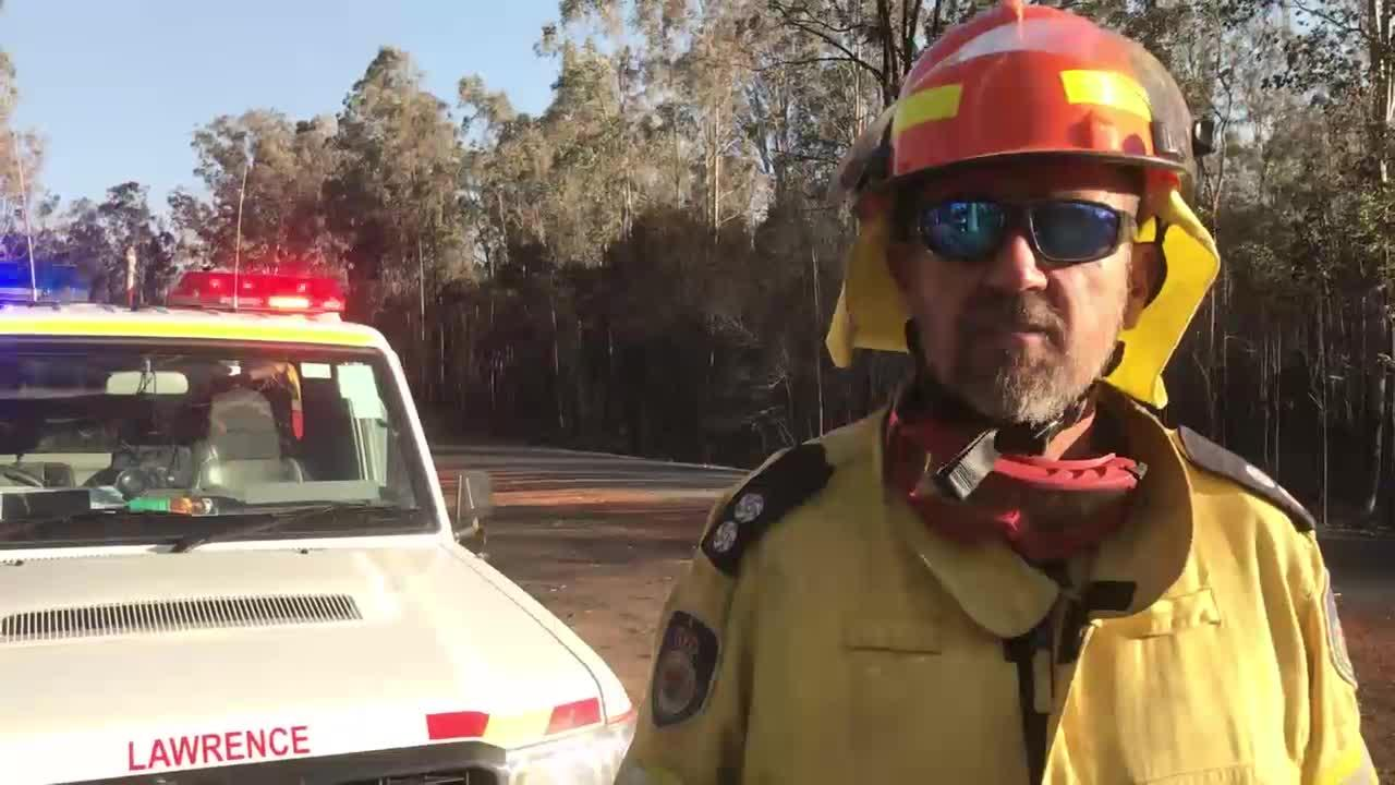 Scott Campbell was the Clarence Valley Rural Fire Service's divisional commander on the ground at Whiteman Creek on Saturday, 10th August, 2019.
