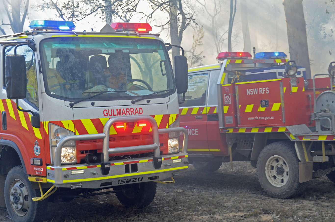Clarence Valley Rural Fire Service crews battled an out of control bushfire at Whiteman Creek west of Grafton on Saturday, 10th August, 2019.