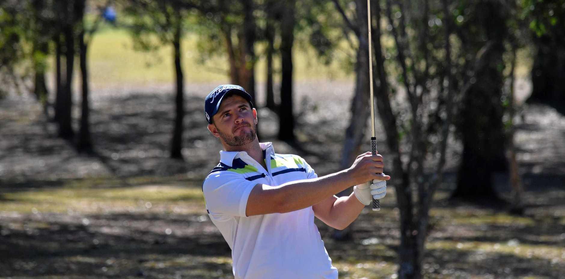 TOP SHOT: Chris Wood at the McKimms Real Estate Grafton Pro Am  at the Grafton Golf Club on Friday.