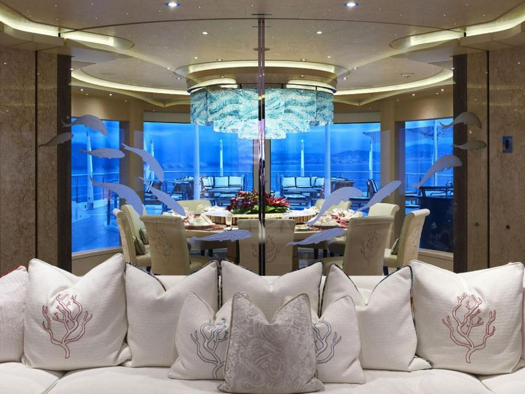 The interior is Asian-inspired. Picture: Camper & Nicholsons International
