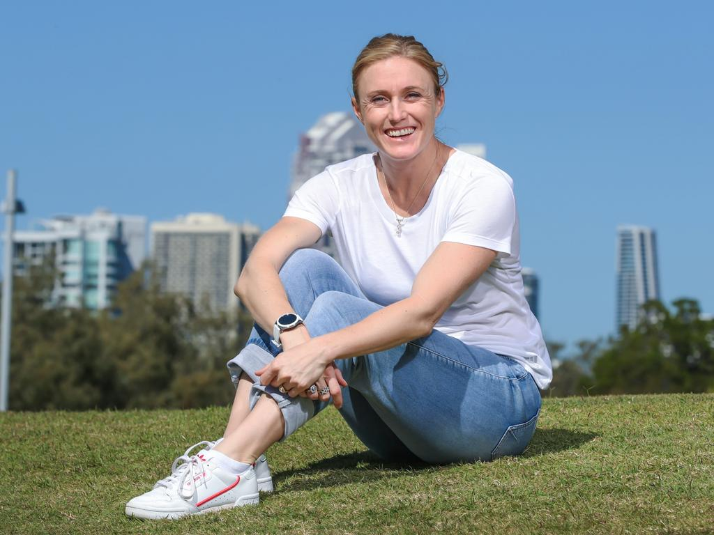 Sally Pearson soaking up retirement on the Gold Coast. Picture: Nigel Hallett