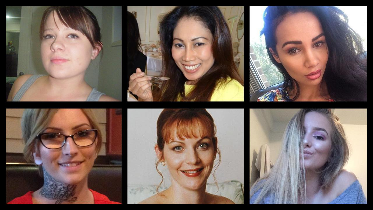 Some of the most prominent victims of domestic violence (proven and alleged) in Queensland (clockwise from top left) Shandee Blackburn, Novy Chardon, Tara Brown, Larissa Beilby, Allison Baden-Clay and Shelsea Schilling.