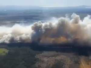 'Seek shelter': Bushfire threatens homes near Kempsey