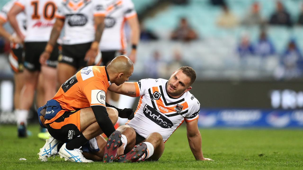 Farah's injury was an early blow for the Tigers. Photo: Mark Metcalfe/Getty Images