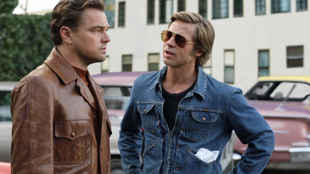 Leonardo DiCaprio and Brad Pitt star in the movie Once Upon a Time in Hollywood.