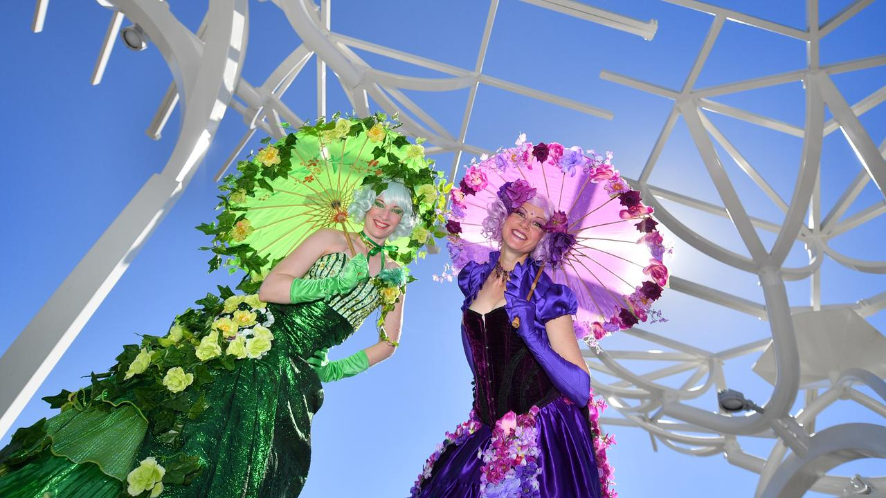 PEOPLE'S DAY: Australias largest urban rejuvenation CBD project has opened to the public with a free event for all. Tania and Lauren were part of the entertainment.