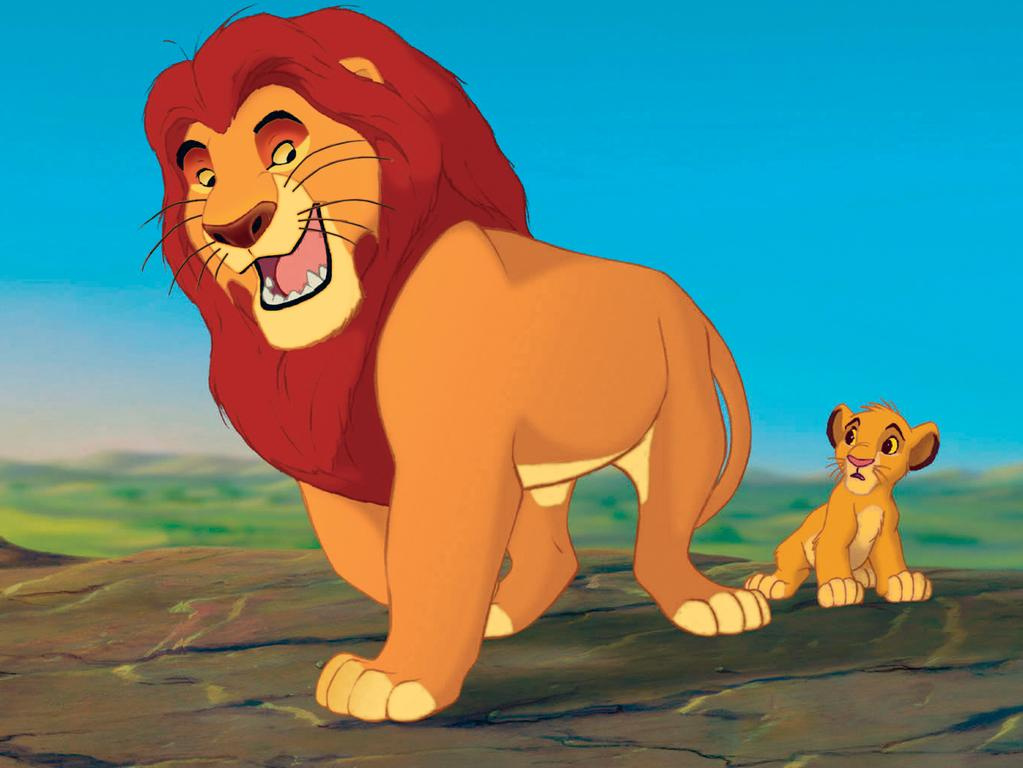 Scene from 1994 animated film 'The Lion King'.