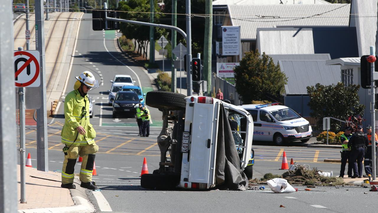 The car flipped a number of times. Picture Glenn Hampson