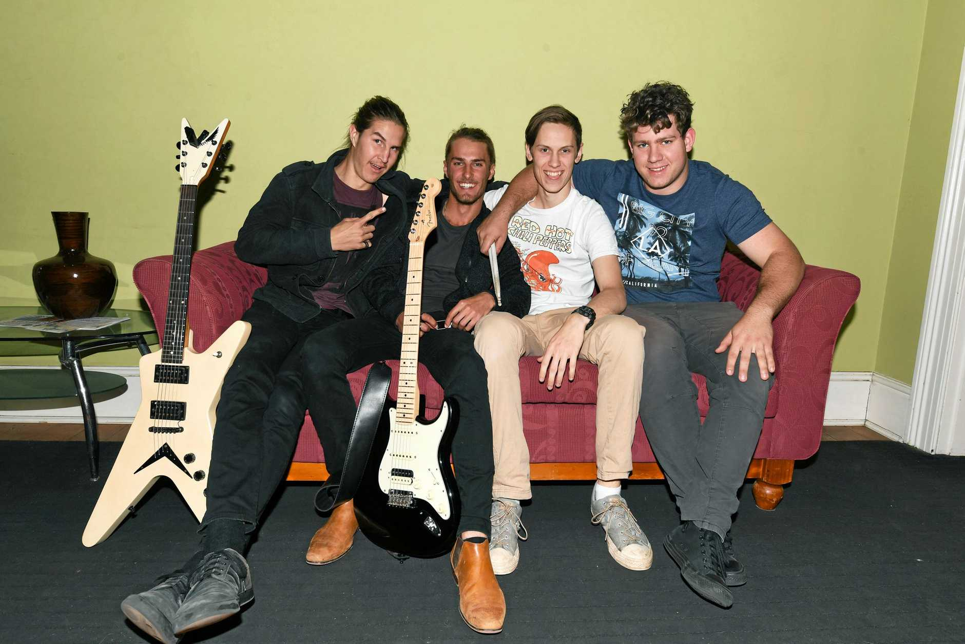 The AICM in Channon St for RockSchool Band Showdown- BLANK CANVAS -  Jackson Allan, Jake Gibbs, Mikah Gatward, Brendon Crowther
