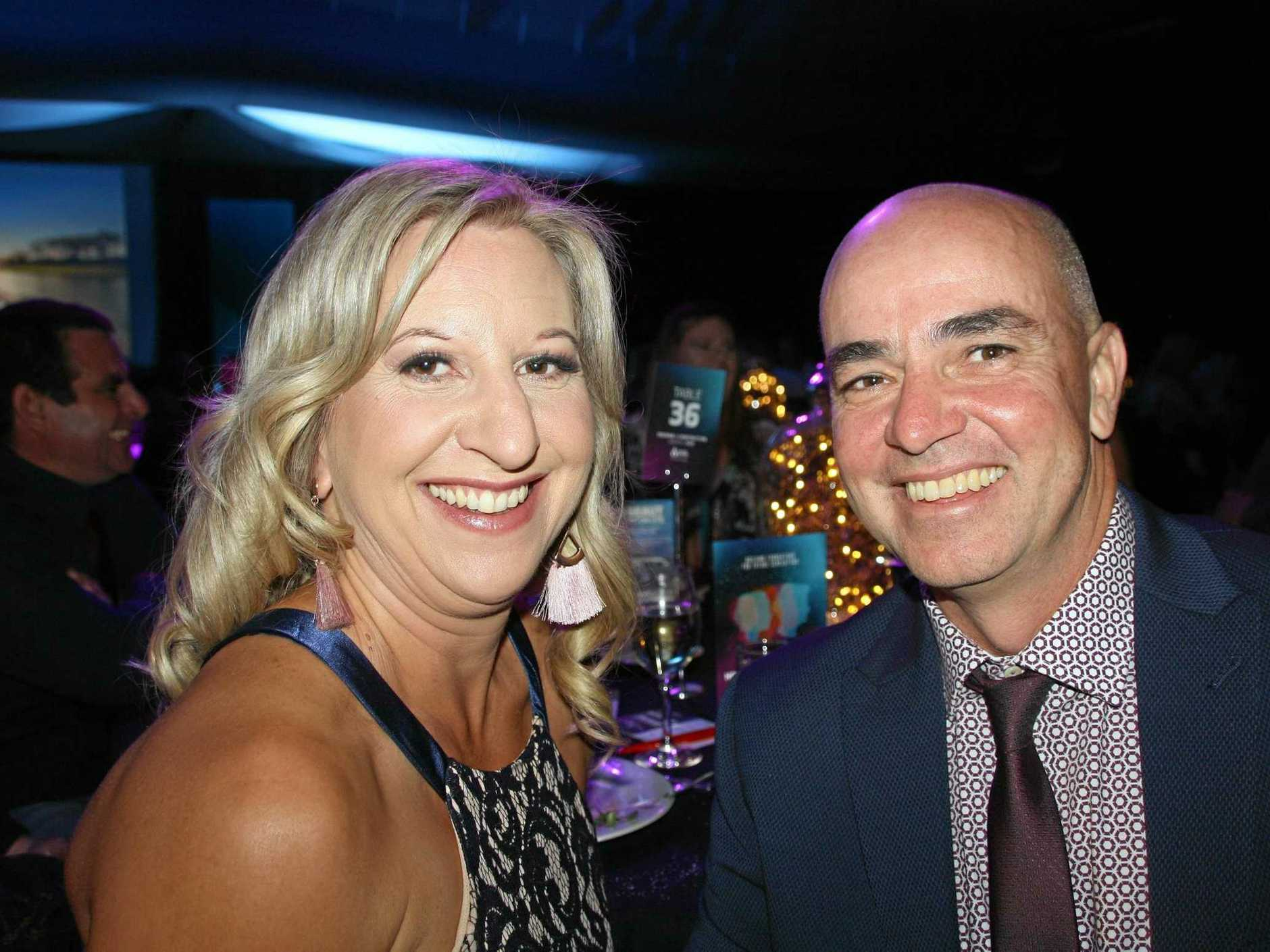BIG WINS: Fiona and Doug Channells of Gympie home building company Aspect Homes had a fabulous night of success and peer recognition at the 2019 The Sunshine Coast Master Builders Housing and Construction Awards at the Novotel Twin Waters Resort on Saturday.