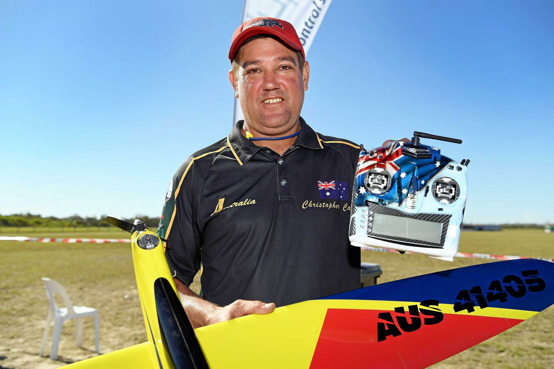 WORLD CHAMPION: Sunshine Coast's Chris Callow won the world championships for the sixth time at the Pylon Racing Model Aircraft World Championships in Maryborough.