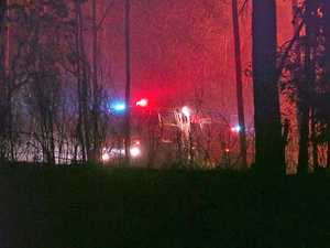 Crews faced another long night on fire grounds