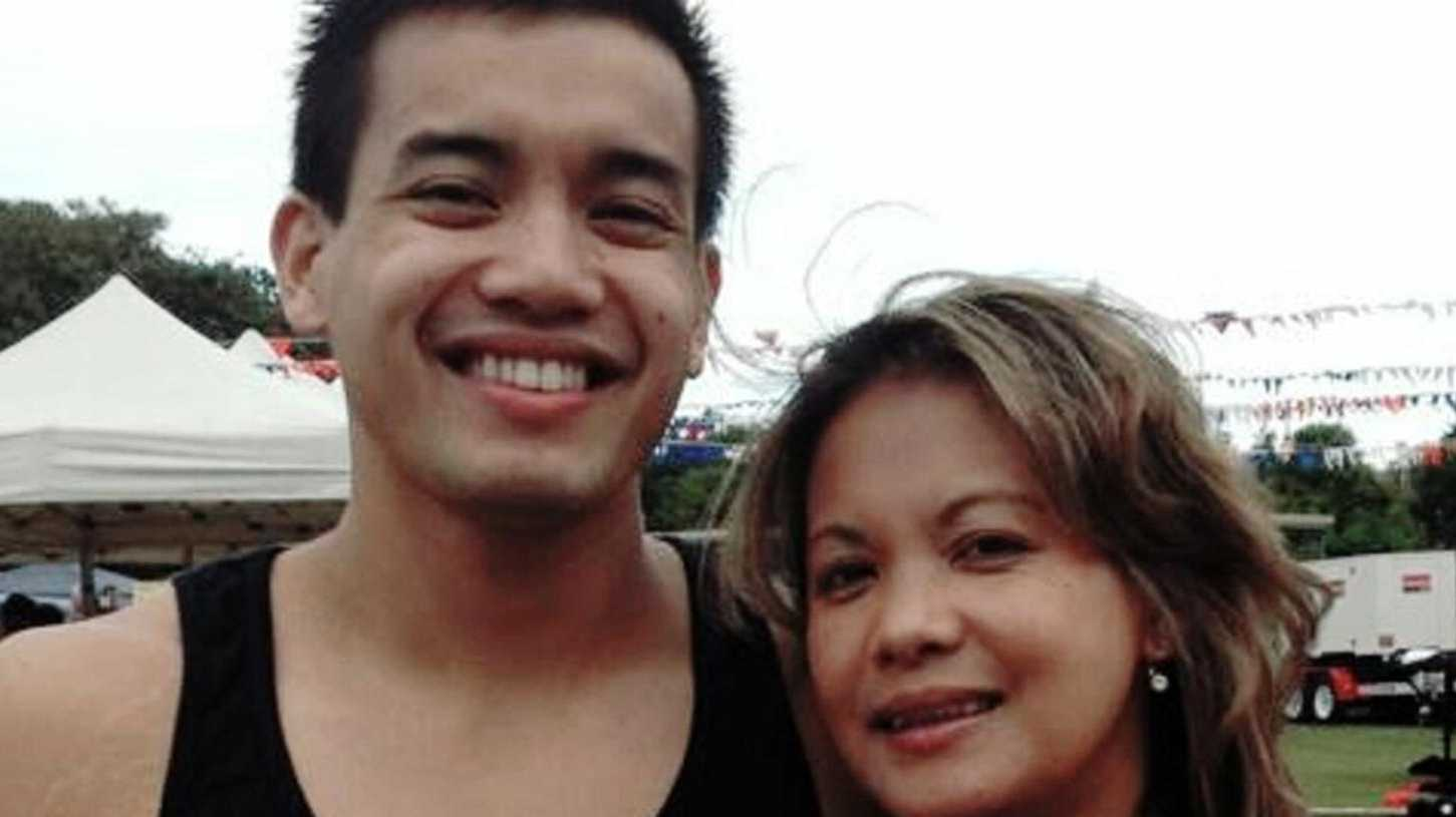 Rinabel Blackmore with her son Renzy Libao.