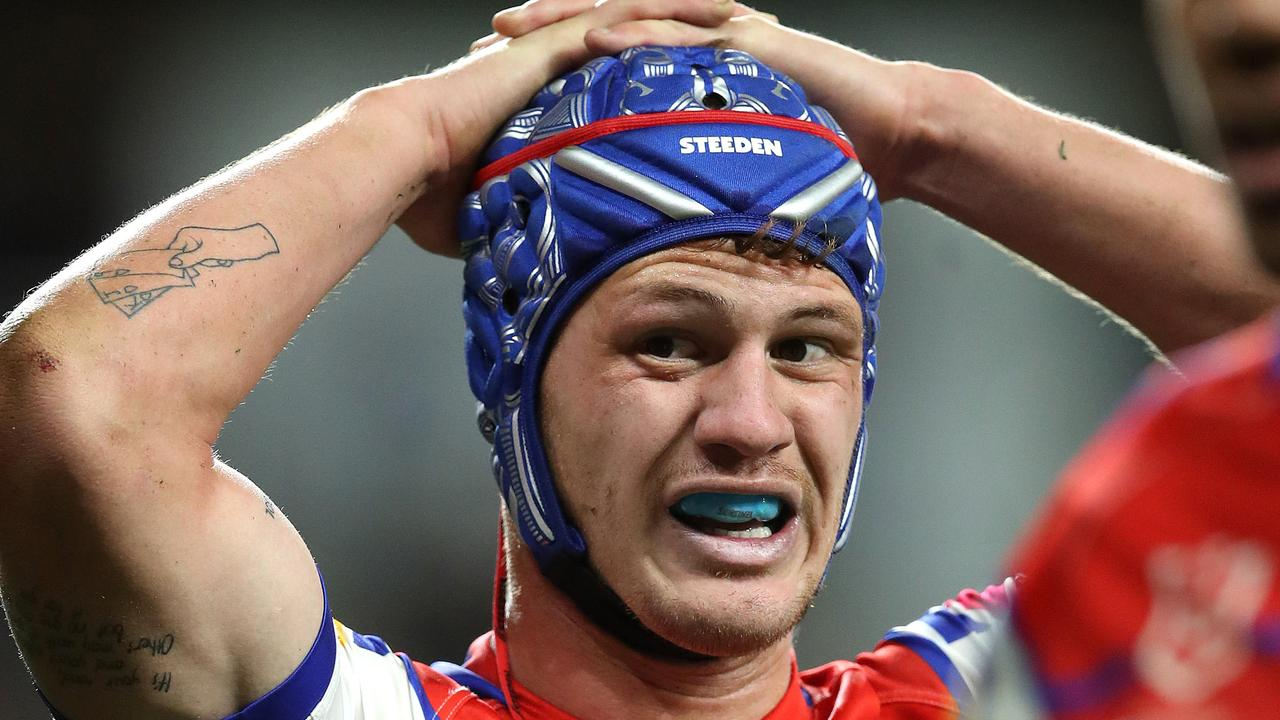 Kalyn Ponga was sent to the bin during a game against the Tigers last month.