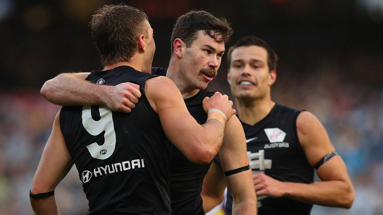 Mitch McGovern stripped fitter against the Tigers. Pic: Getty Images