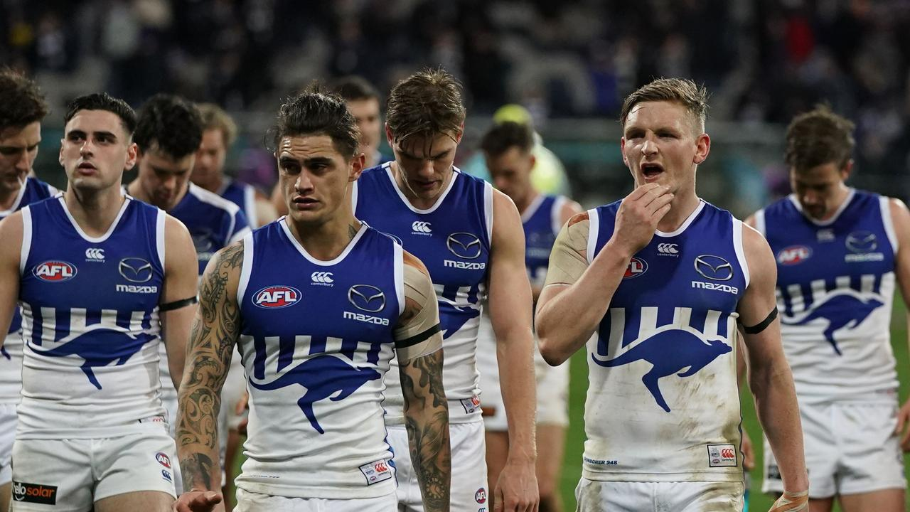 Jack Ziebell's Kangaroos recorded their lowest-ever score. Pic: AAP