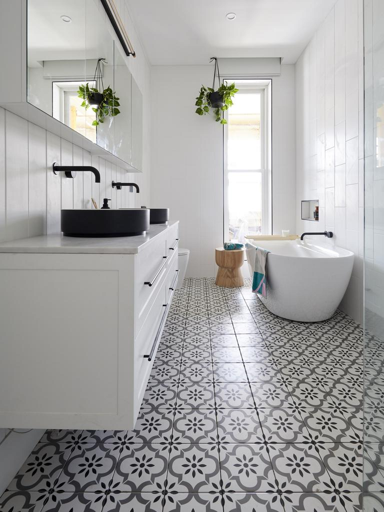 The judges were fans of the patterned floor tiles. Guess that helps. Picture: The Block/ Channel 9