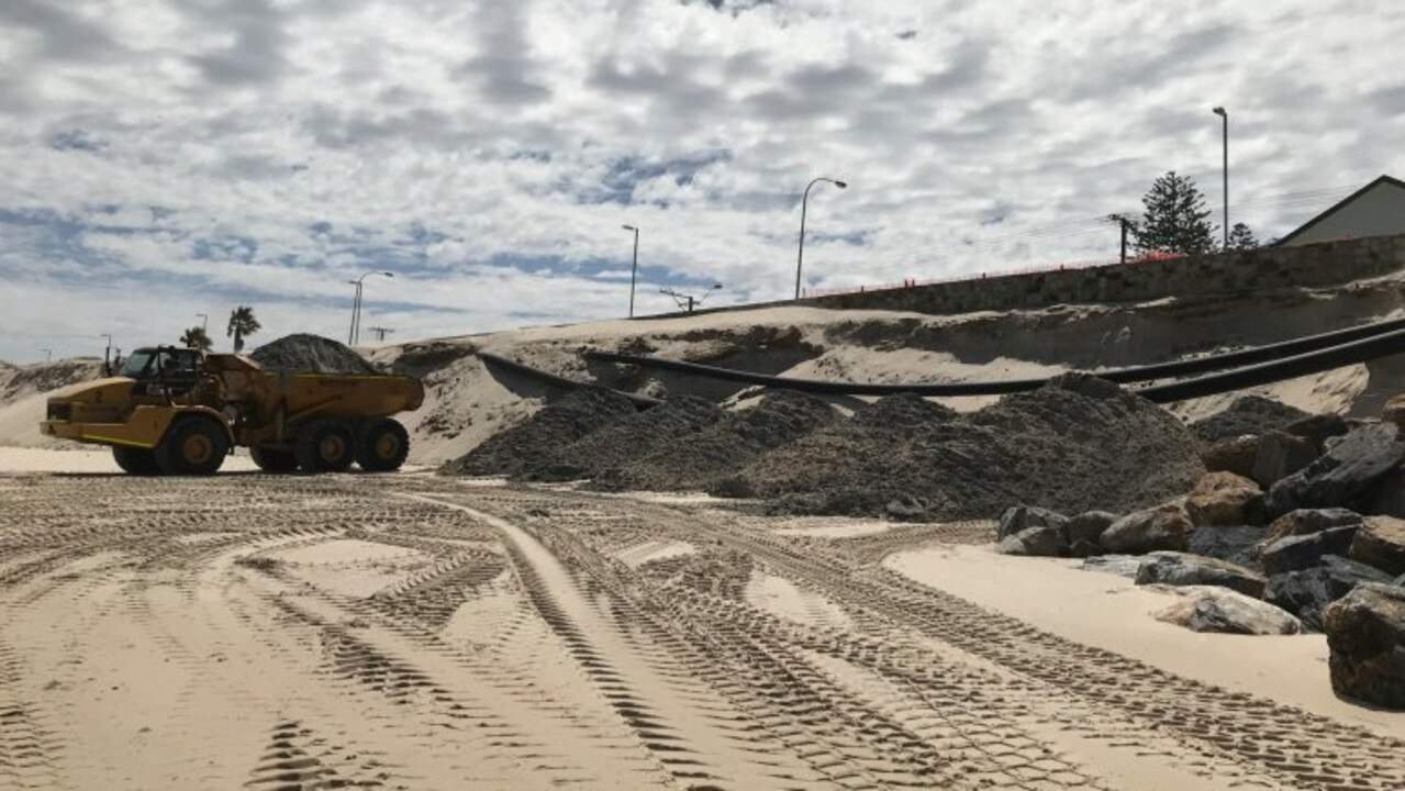 Sand carting will be carried out to address erosion at Adelaide beaches. Picture: SA Department for Environment & Water