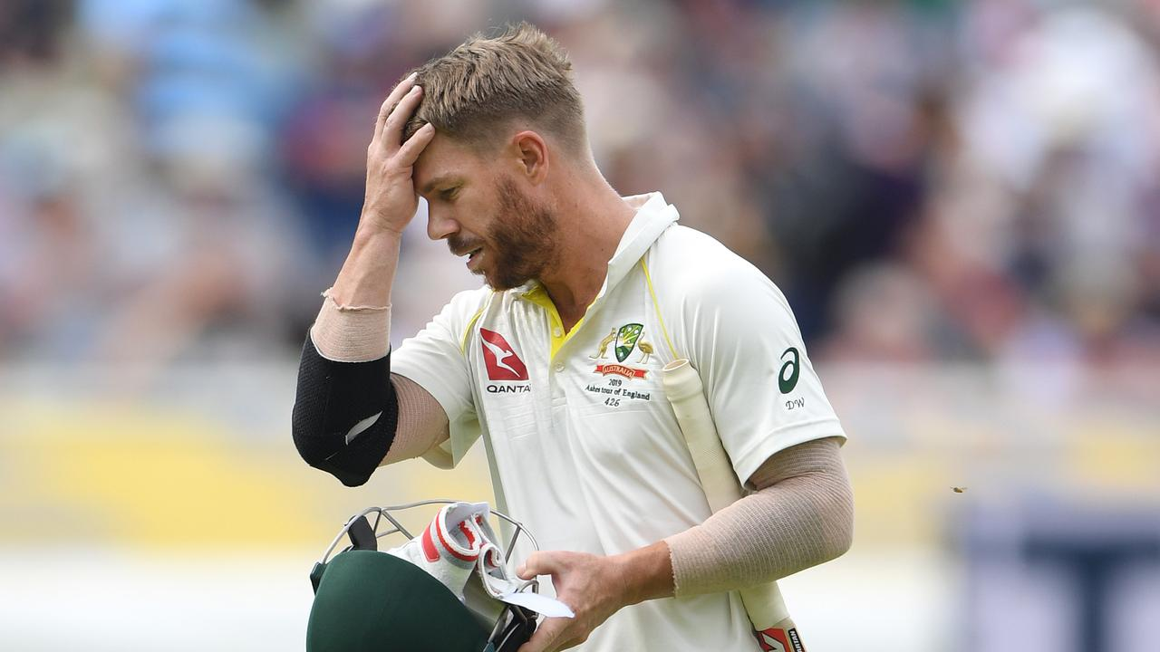 David Warner join Smith in the nets after twin failures at Edgbaston. Picture: Stu Forster/Getty Images