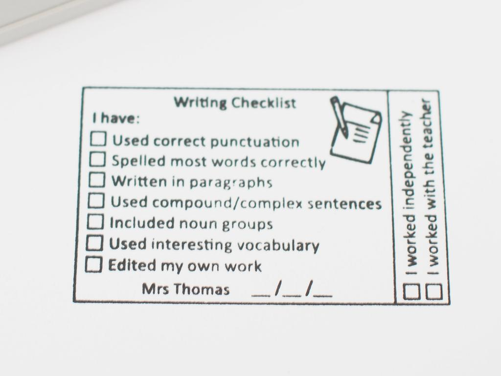 Examples of Uyen Maxwell's custom made stamps she has created for teachers. Picture: Supplied
