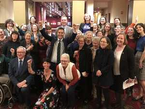 Abortion bill victory photo could put Gladys in firing line