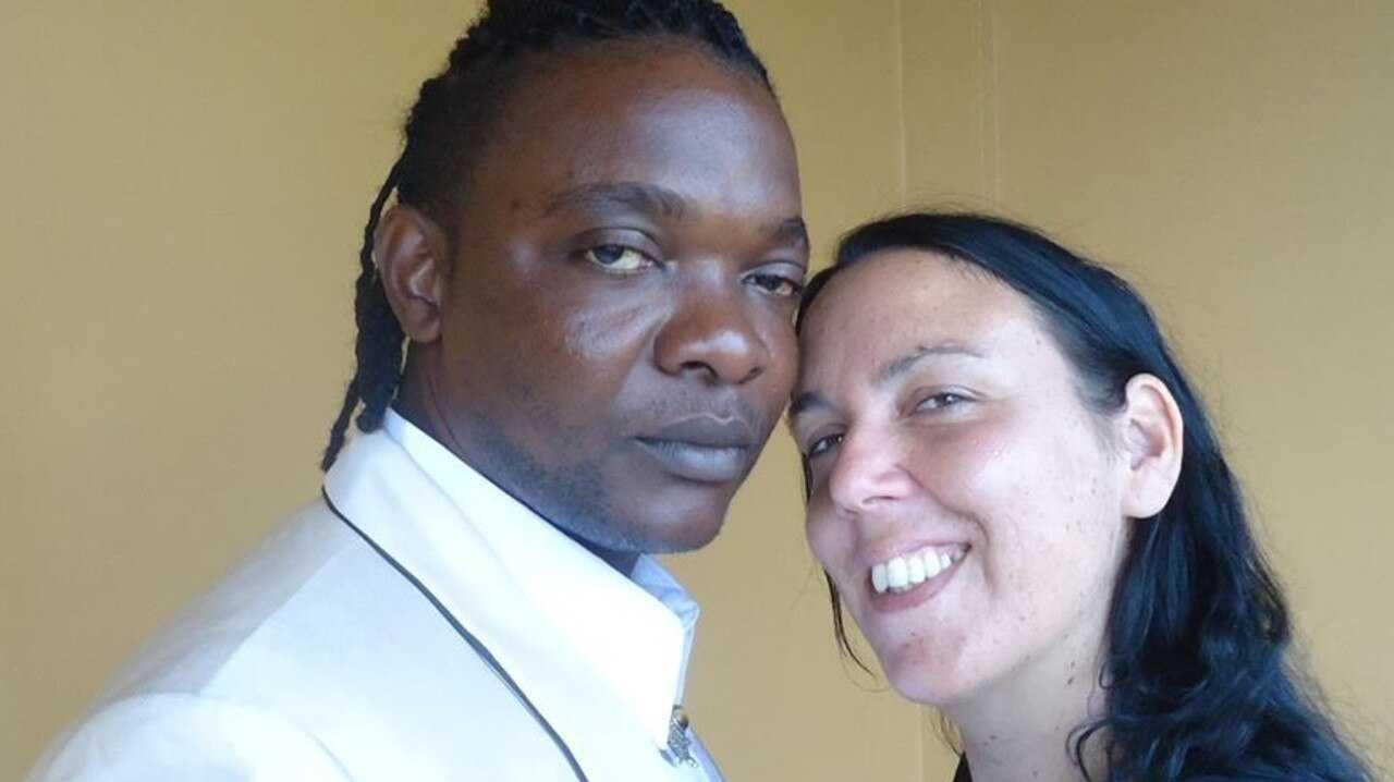 Jennifer Ann Downes, also known as Jenna Lusaka, with her husband Henri Lusaka John. Picture: Facebook