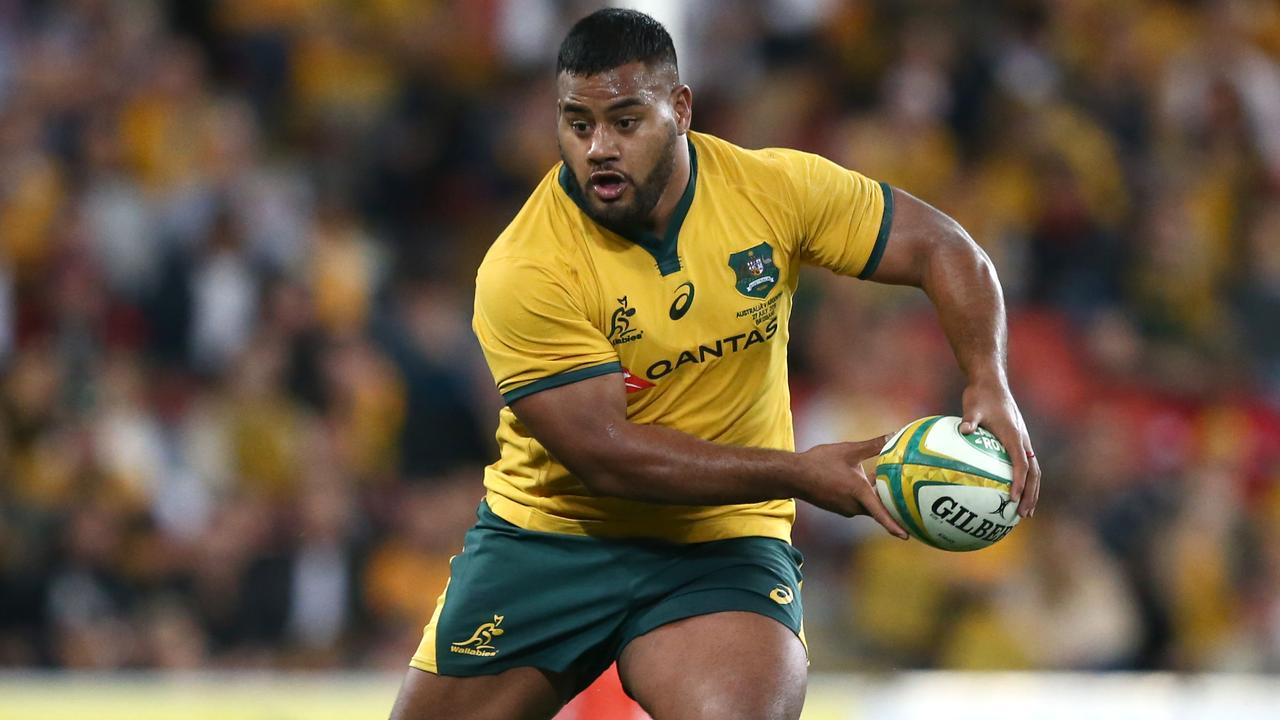 Taniela Tupou is staying in Australia amid a mass exodus of Wallabies. Picture: Jono Searle/Getty Images
