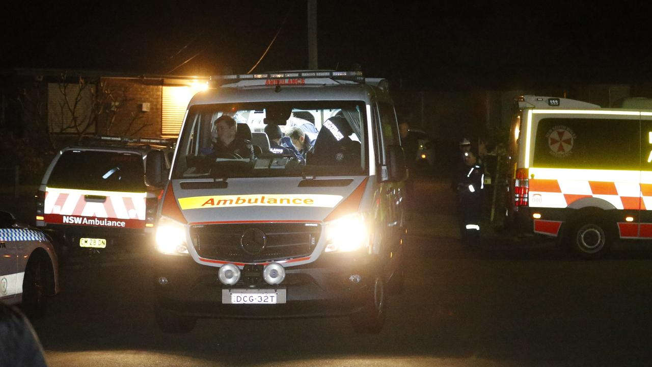 Paramedics began resuscitation on the injured man as soon as they arrived. Picture: Steve Tyson