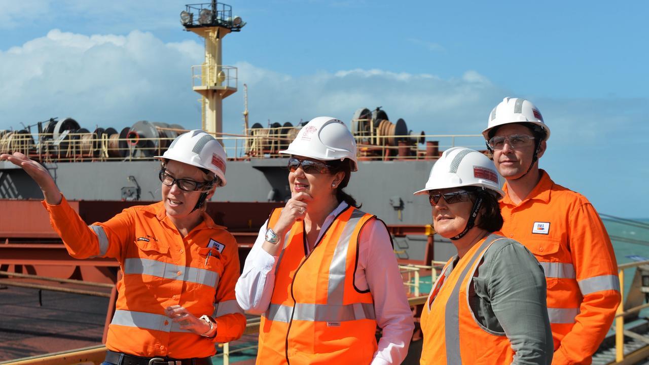 Premier Annastacia Palaszczuk with Member for Mackay Julieanne Gilbert Photo
