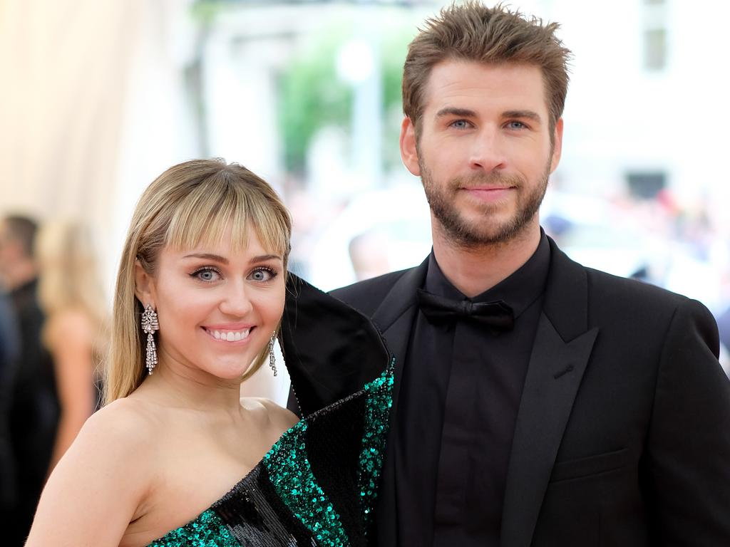 Miley Cyrus and Liam Hemsworth, pictured at the 2019 Met Gala, have confirmed they are separating. Picture: Getty