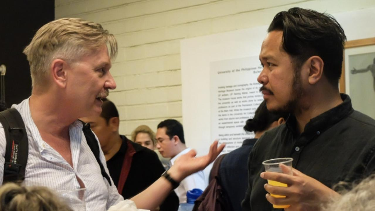Blacktown Arts Program coordinator Paschal Berry (right) at the Performance Curators Initiatives Symposium in the Philippines.