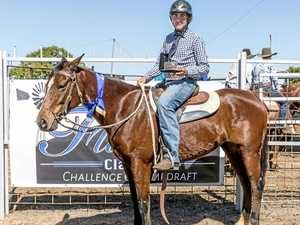 Young campdrafter wins three buckles in three months