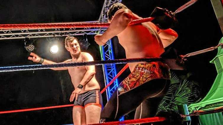 ART OF WRESTLING: Dallas Barnham (a.k.a Dante Rage) says he never thought he'd have the opportunity to perform wrestling in Rockhampton.