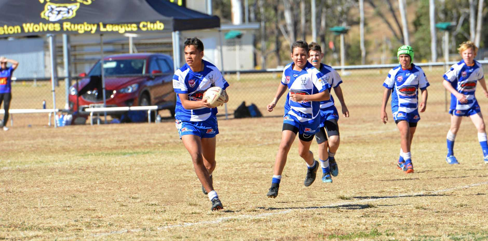 WINNING FORM: Dominique Sandow for the Nanango Stags under-14s.