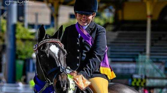 PROUD AS PUNCH: Chantal Simpson, of Lockyer Waters, with her horse Sandford Luminate, and the 2019 Ekka.