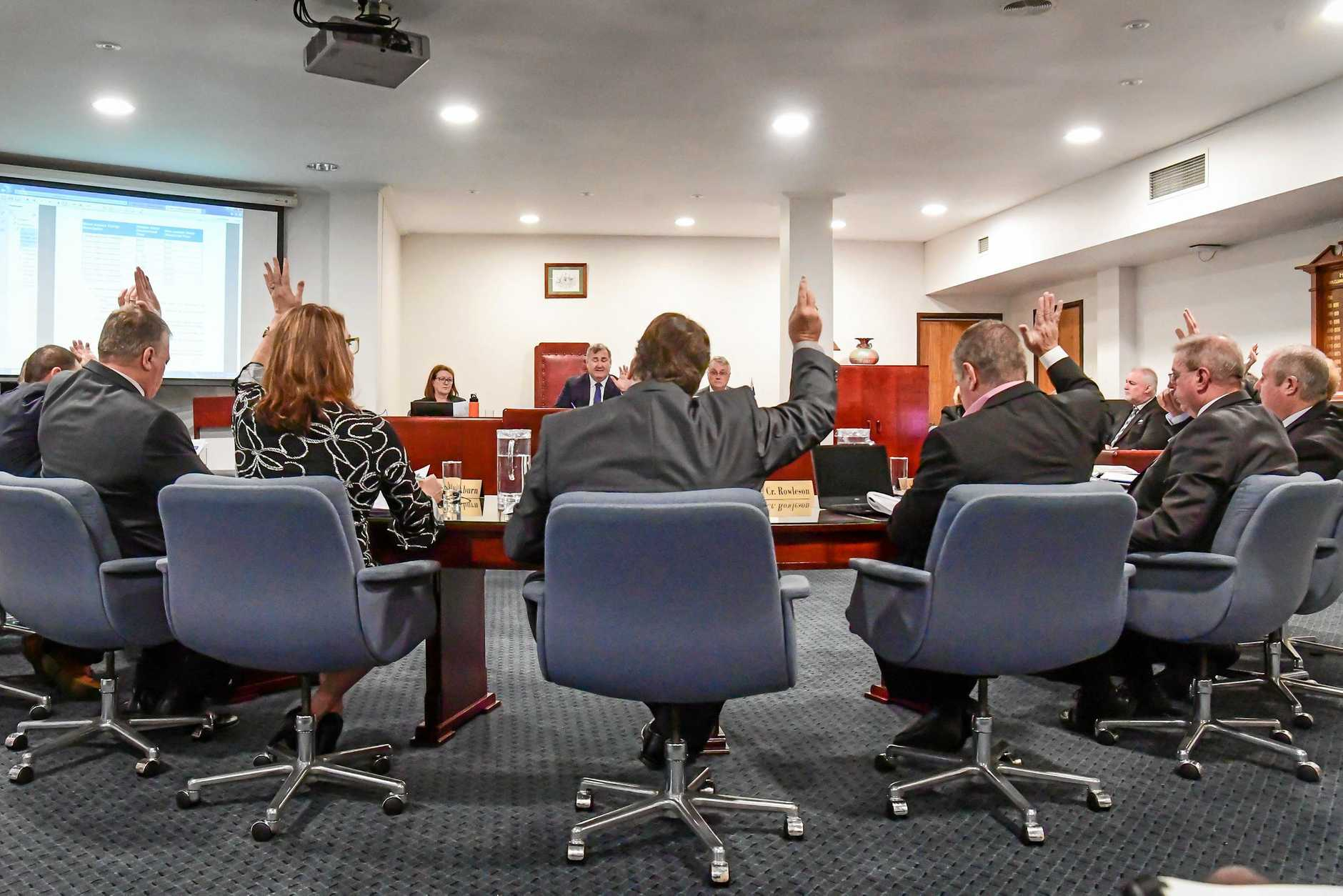 A photo from a prior Bundaberg Regional Council meeting this year.