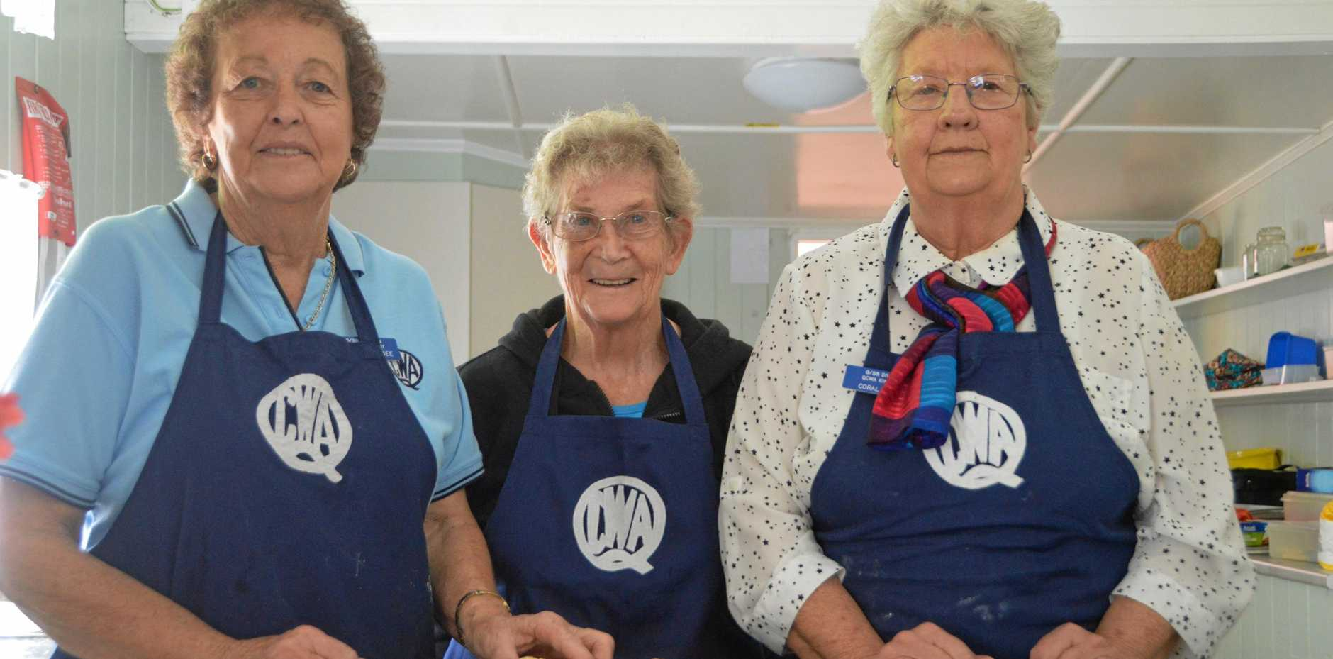MILESTONE MOMENT: Trish Magee, Margaret Aberle and Coral Light at the Kingaroy CWA branch's 97-year celebrations.