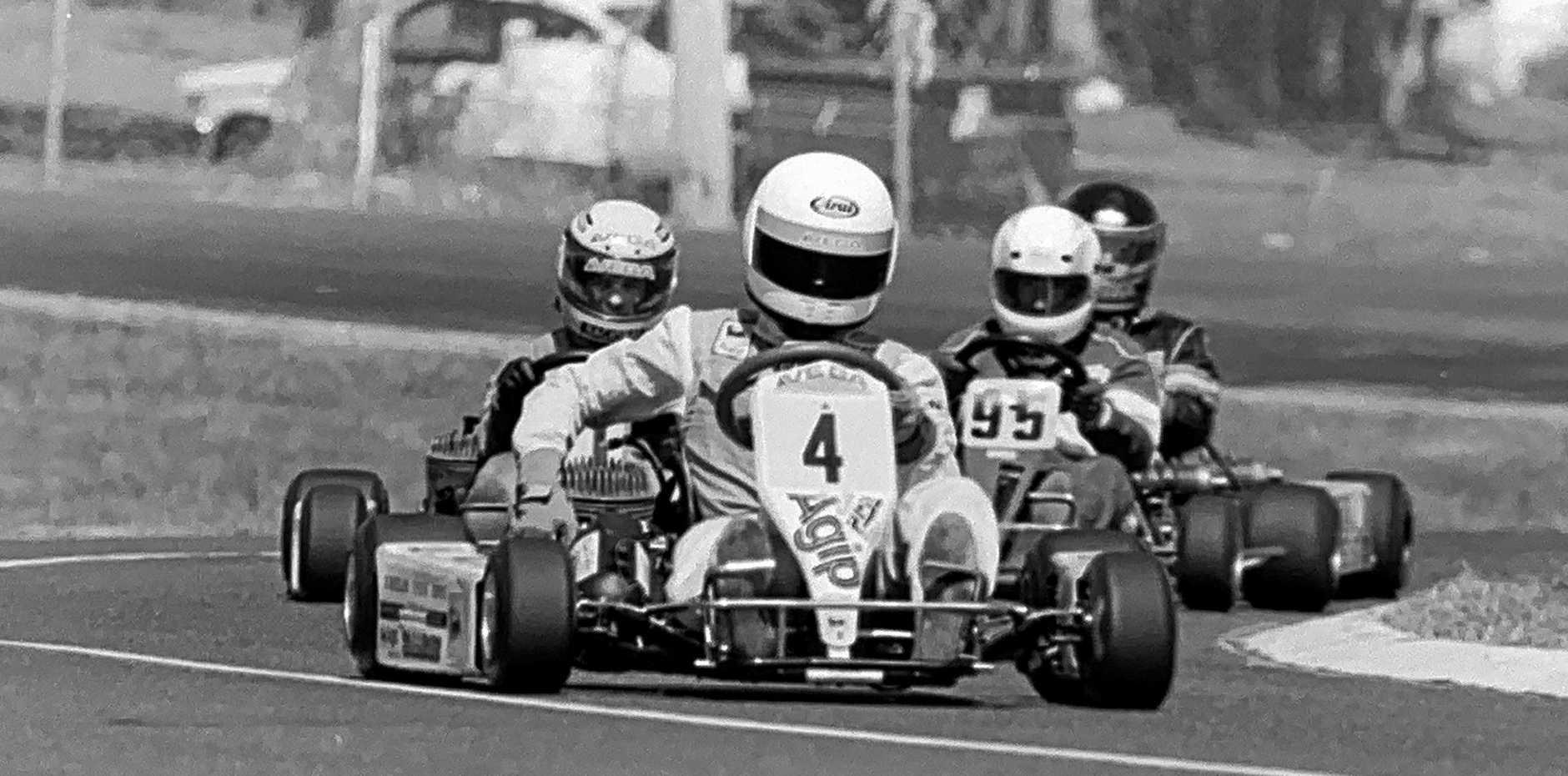 Karting action in Lismore, 1991.