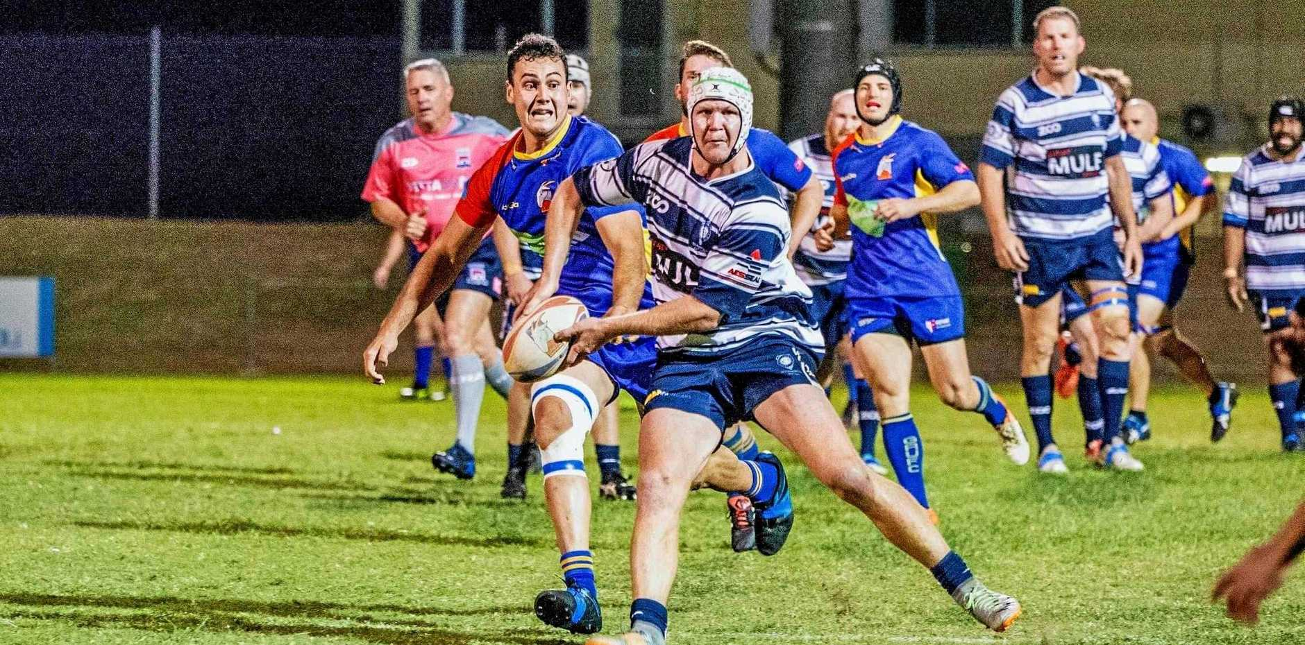 SEASON FIRST: Brothers' Lachlan Campbell goes on the attack against Gladstone Grufs in the Rugby Capricornia semi-final on Saturday.