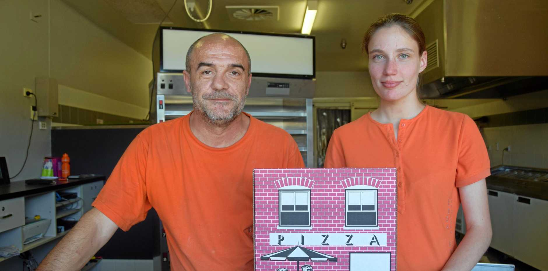 BUON APPETITO: Edda Zucchet and Brigitte Sabdyn at the new pizzeria Edda 47.